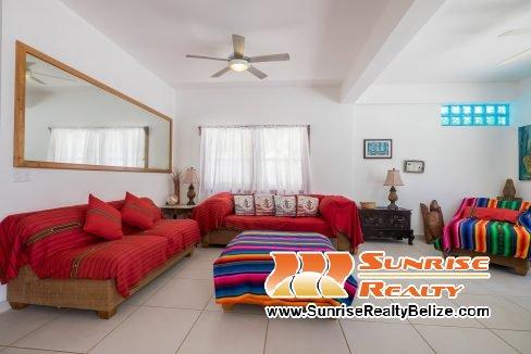 Blue Dolphin Beach Villa  Main House Living Room