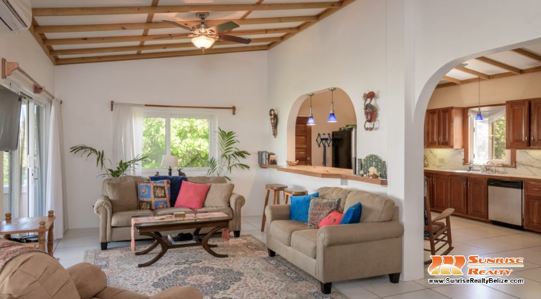 Heron' Rest Living Room to Kitchen